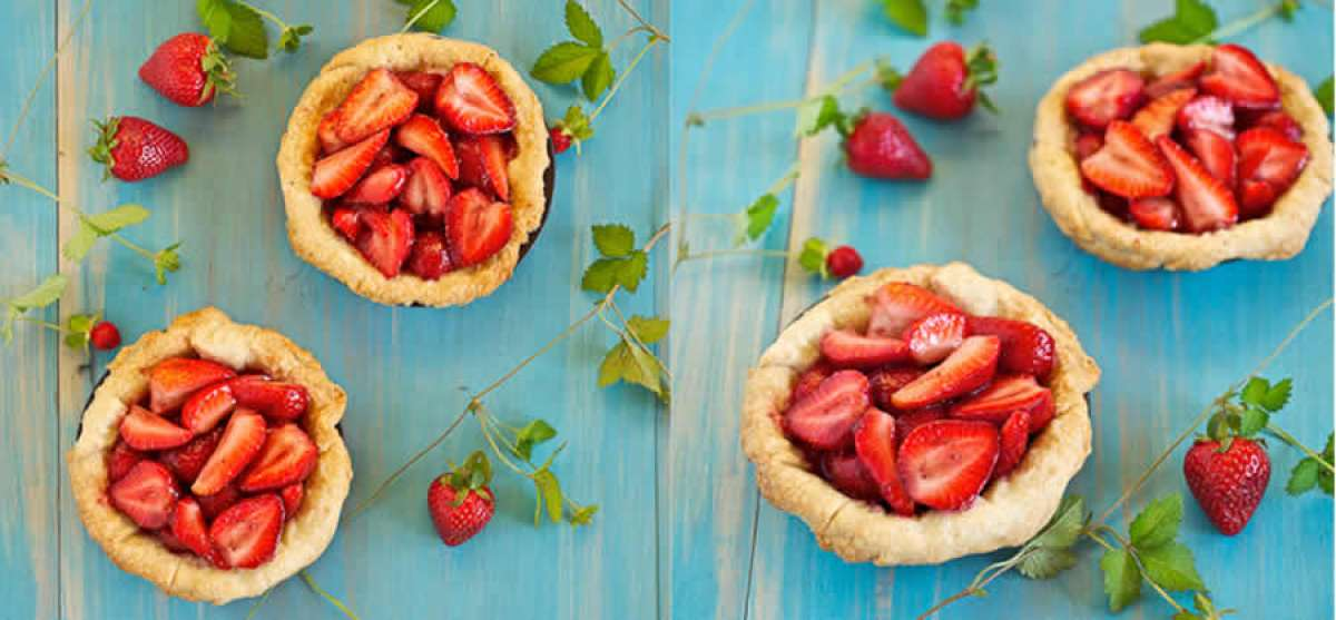 Cute strawberry mini pies: an explosion of taste!