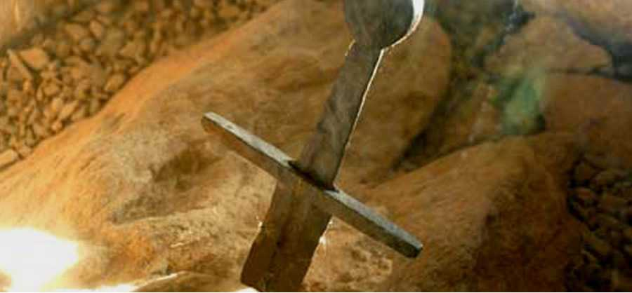 The real sword in the stone is not in England but in Tuscany