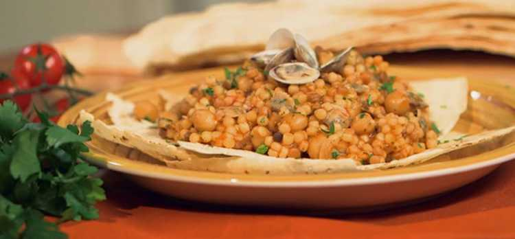 Fregula with Cocciula - the sardinian cous cous
